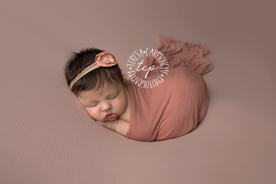 12-6-17_47A7898 teresa carmouche photogrpahy,newborn photography, swaddled newborn, newborn smiles,baton rouge newborn photographer, neworleans photographer, neutral, flower