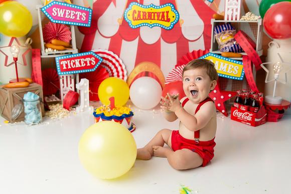 20190601_4473-Baton Rouge Baby Photographer-Baton Rouge Maternity Photographer-Baton Rouge Newborn Photographer-Baby Photos-Circus Cake smash- Baton Rouge Cake Smash Photographer- One Year photoshoot